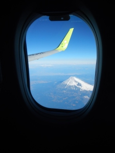 Fuji from the plane